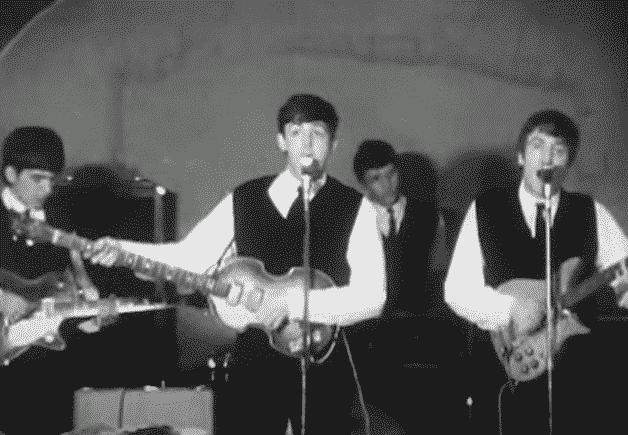 Première télé des Beatles au Cavern Club