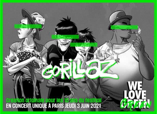 Gorillaz au festival We Love Green