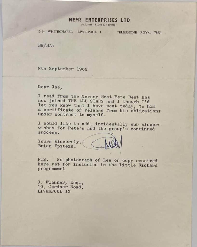 Pete Best viré des Beatles