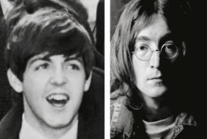Paul McCartney et John Lennon
