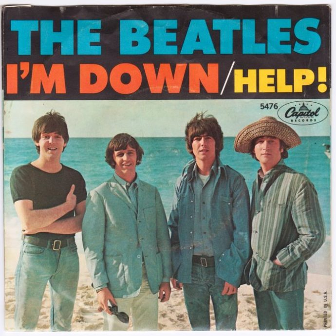 The Beatles-Help single cover