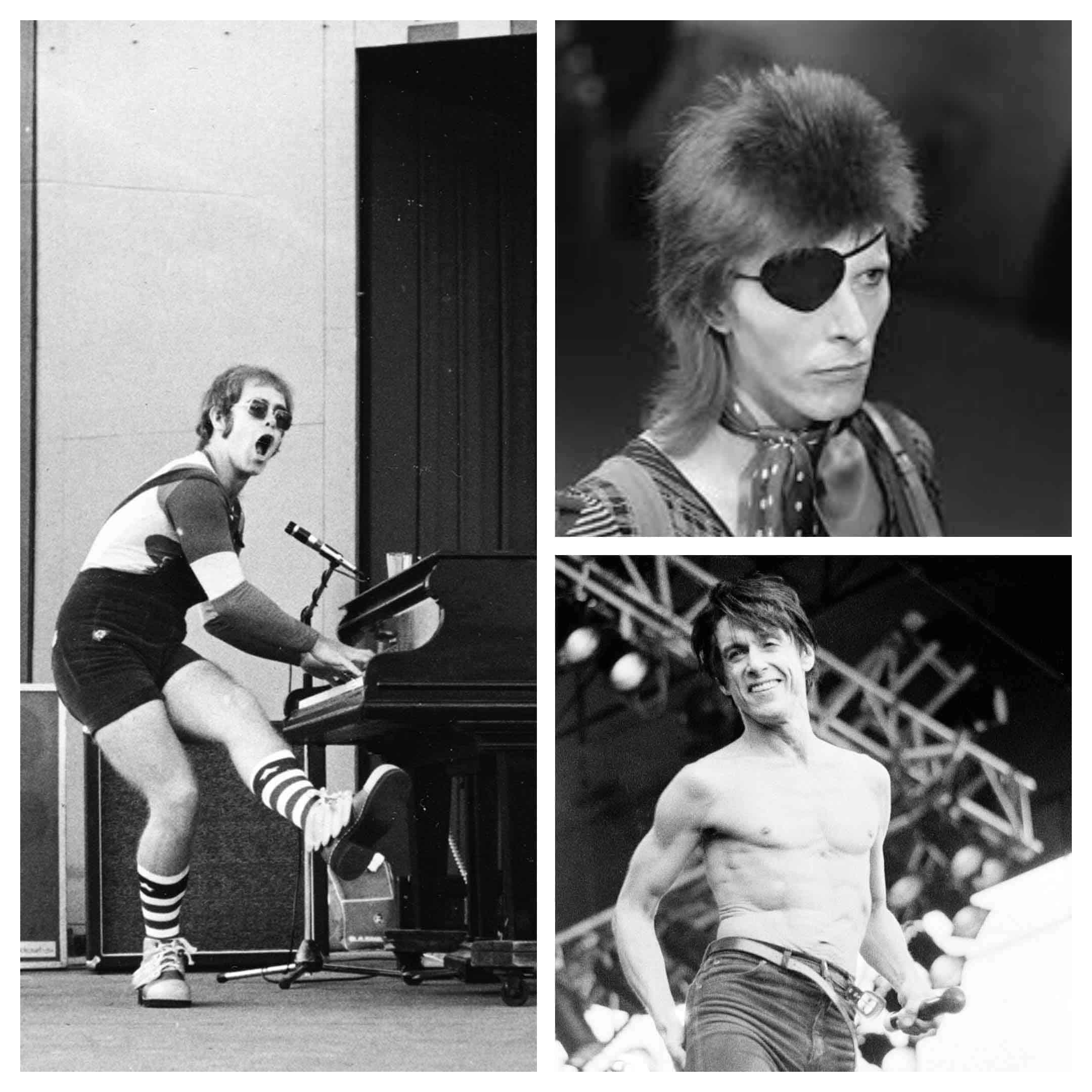 Elton John, David Bowie, Iggy Pop