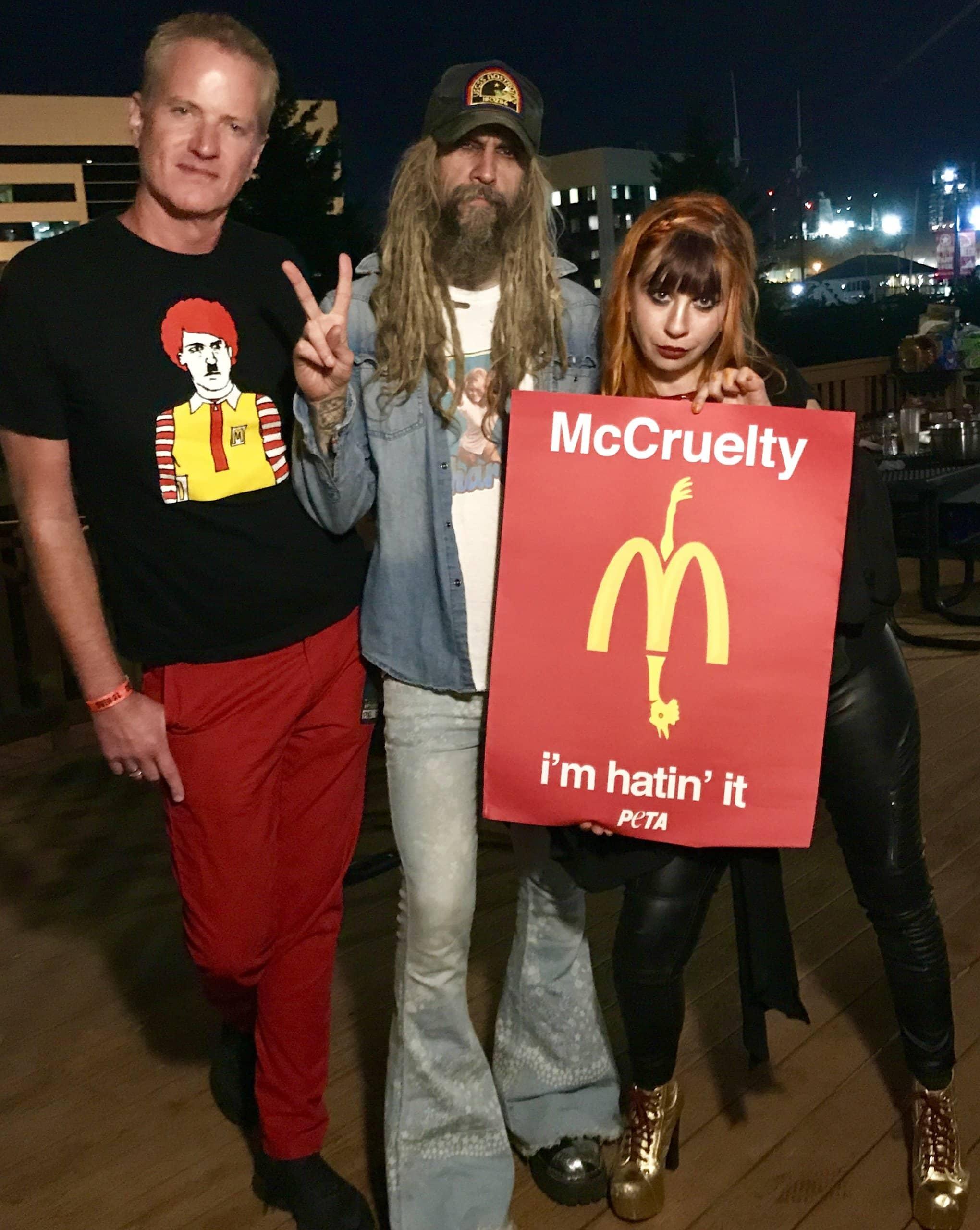 Rob Zombie proteste contre McDonald