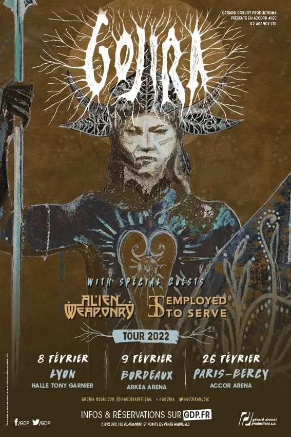 Gojira en tournée en France en 2022