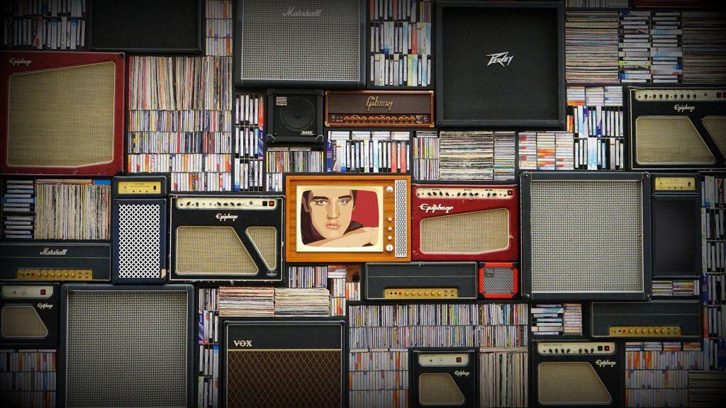 Elvis Presley, vinyles, amplis