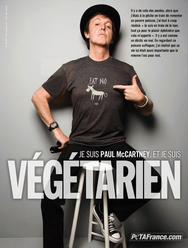Paul McCartney est végétarien