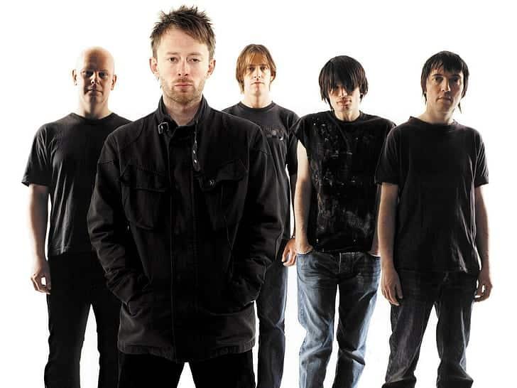 Membres du groupe Radiohead.