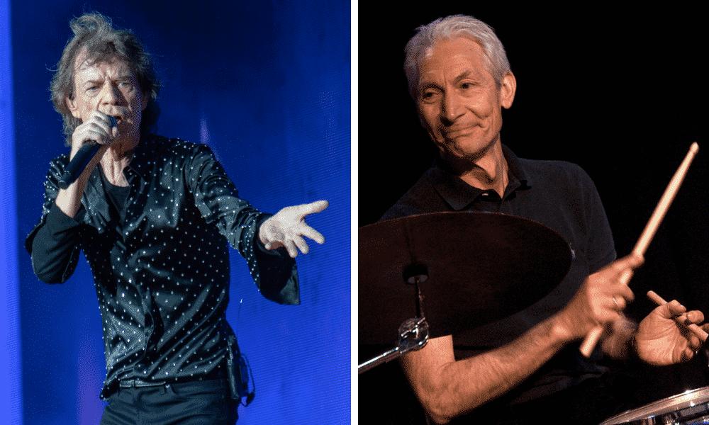 Mick Jagger et Charlie Watts
