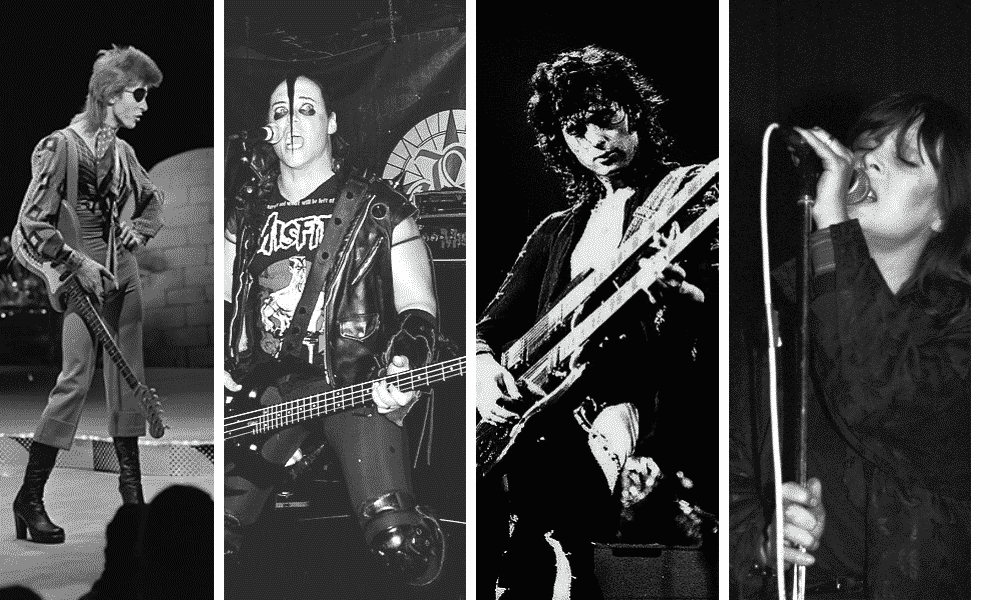 David Bowie, Jerry Only, Jimmy Page, Nico